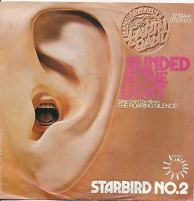 """Blindes by The Light - Manfred Mann's Earth Band - Single 7"""" Vinyl 63/18"""