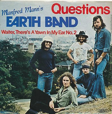 """Questions - Manfred Mann's Earth Band - Single 7"""" Vinyl 63/18"""