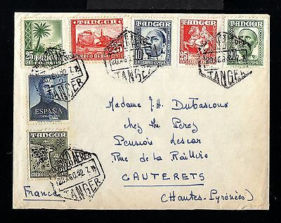 11725-SPANISH MOROCCO-SPAIN COLONIES-OLD COVER TANGER to FRANCE.1952.Marruecos