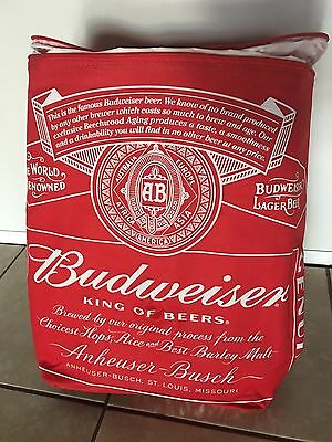BUDWEISER  thermal insulated  ZIPPERED BACKPACK  bag COOLER