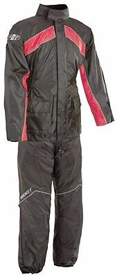 Joe Rocket Rs2 Mens Motorcycle Rain Suit Xl  Black And Red Top And Bottoms
