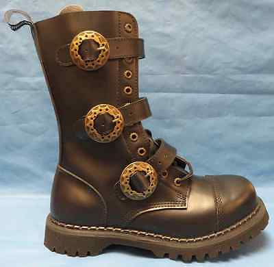 Steampunk Boots Black Leather Fancy Dress Up Halloween Adult Costume Accessory