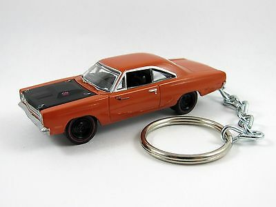 1969 PLYMOUTH ROAD RUNNER Coupe Go Mango Orange Key FOB Keyring Keychain