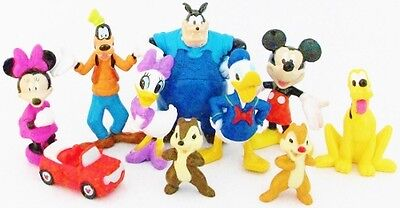 MICKEY MOUSE CLUBHOUSE Figure Play Set DISNEY PVC TOY Birthday Party Favors PETE
