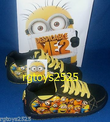Despicable Me 2 Shoes tie ups sneakers New Minions 11 12 13 1 2 3 Childs