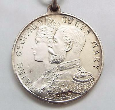 King George V & Queen Mary Sterling Silver 1911 Coronation Medal - Shoreditch