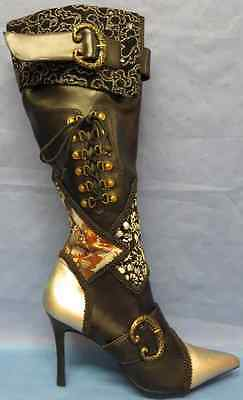 Pirate Boots Adult Womens Costume Shoes Halloween Fancy Dress