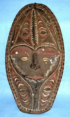 "Vintage 18 1/2"" Antique Circa 1920-1940's  New Guinea Wooden Mask"