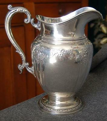 "Lovely Gorham ""king Edward"" Large Handled Sterling Silver Water Pitcher"