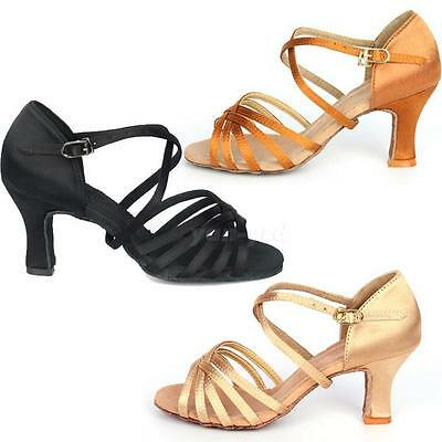 Hot Sale 7cm High Heel Adult Female Latin Modern Ballroom Dancing Shoes Y5RG