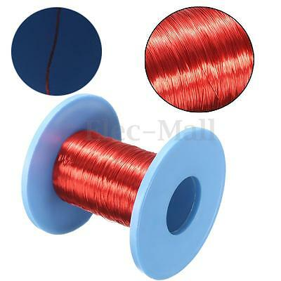 100m Red Magnet Wire 0.2mm Enameled Copper Wire Round Magnetic Coil Winding