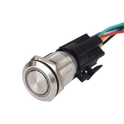 19mm 12V Red LED For Angel Eye Metal Push Button Toggle Switch ON/OFF Socket BF
