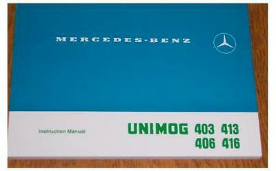Mercedes-Benz Unimog 406 416 403 413 Instruction Manual - NEW
