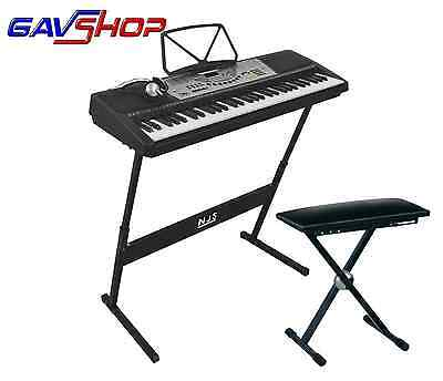 NJS800 Digital Electronic Keyboard Piano with stand & Headphones and Stool!