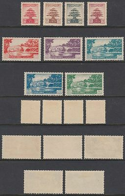 Liban Lebanon 1951 */MLH Mi.448/56 Freimarken Definitives Brücke Bridge [st1910]