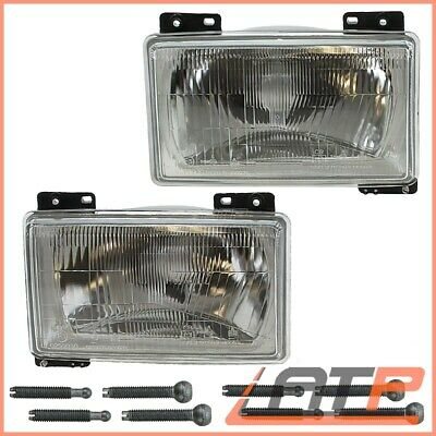 2X Headlamp Headlight H4 Front Left+Right Fiat Ducato 280 82-90 1.8-2.5
