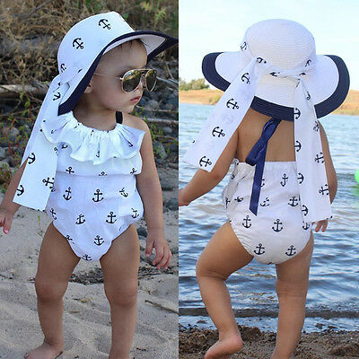 Toddler Infant Baby Girl Romper Anchor Bodysuit Jumpsuit Outfits Sunsuit Clothes