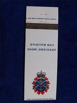 Canadian Forces Base Halifax Officers' Mess Vintage Military Matchbook Cover