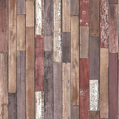 Wood Planks Wallpaper - Natural - Fd40887 - Fine Decor Wooden Feature Wall