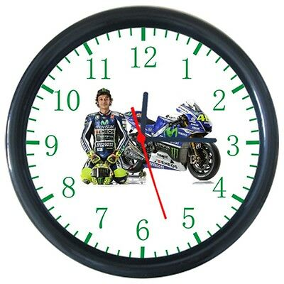 Valentino Rossi Cool Motorcycle Design Round Wall Clock
