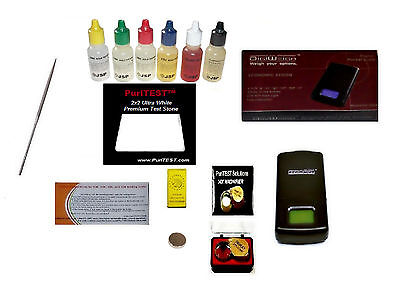 Gold Acid Testing Kit Electronic Tester Scale Digital Test 14K Silver Diamonds