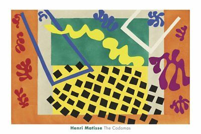 The Codomas, 1947 by Henri Matisse Art Print Modern Abstract Poster 24x36
