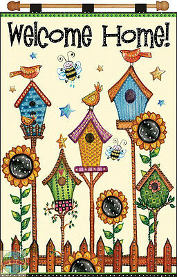 Jeweled Banner Kit ~ Design Works Welcome Home Birds and Birdhouses #DW4128
