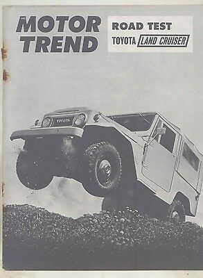 1964 Toyota Land Cruiser Roadtest Brochure Damaged ww1148