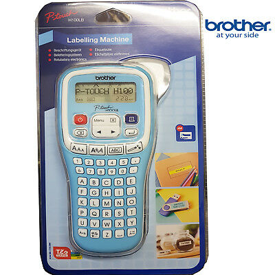 Brother P-Touch H101C Handheld Labelling Printer with Batteries and 4m Tape