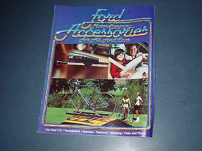 1980 Ford Car Accessories Catalog Brochure mustang pinto fairmont thunderbird