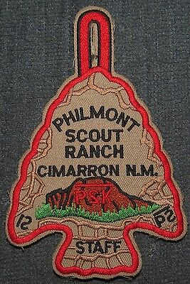 Philmont Scout Ranch Cimarron New Mexico Year 2000 STAFF Arrowhead Patch PB TL