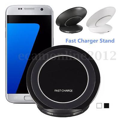 9V QI Wireless Fast Charger Charging Stand Dock Pad w/ Cooling Fan For Samsung