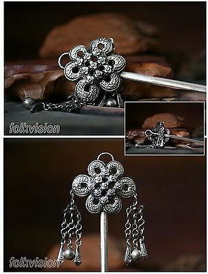 Unique Tribal Ethnic Miao Handmade  Hairpin / Jh136