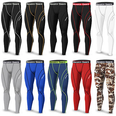 New Men Skin Tights Compression Base Under Layer Sports Running Long Pants