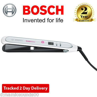 Bosch PHS5987GB Keratin Advance Hair Straighteners with LCD Indication 200°C