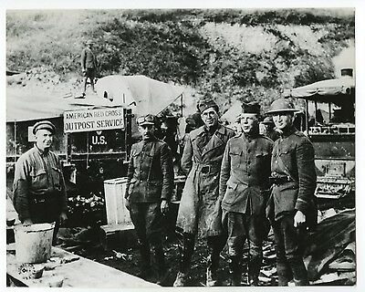 World War I - American Red Cross - Argonne Forest, France - Vintage 8x10 Photo
