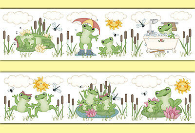 Frog Wallpaper Border Decal Woodland Forest Animal Pond Nursery Wall Art Sticker