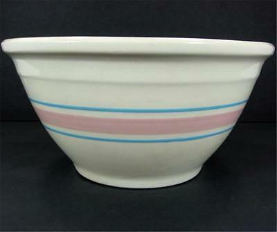McCoy Blue Stripes Pink Band 10in Ovenware Mixing Bowl