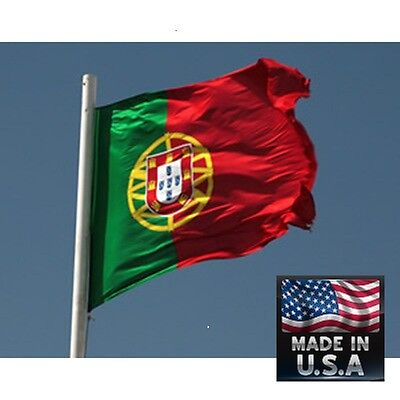 PORTUGAL Portuguese 3x5 Heavy Duty In/outdoor Super-Poly FLAG BANNER*USA MADE