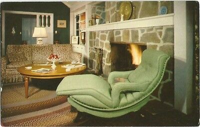 New York, NY 1954 Advertising Postcard, Contour Chair