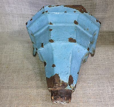 Old Iron Downspout collector Vintage paint Dry flower Sconce Plant Holder shelf