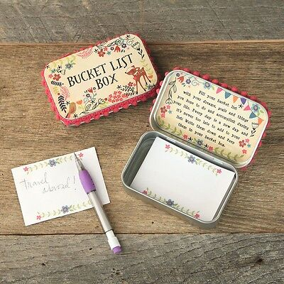 Natural Life Prayer Box Bucket List Pink/ critters /comes w/ Paper and pencil.