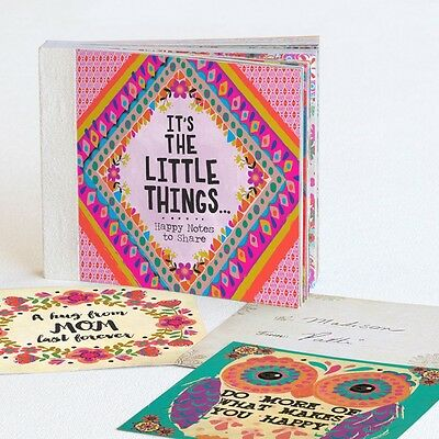 Natural Life Happy Notes / perforated/ to/ from on back great sayings & artwork