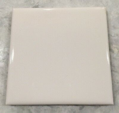 "Vintage Mosaic 1950/60's White Ceramic 4.25"" x4.25"" SINGLE WALL TILE Restoration"