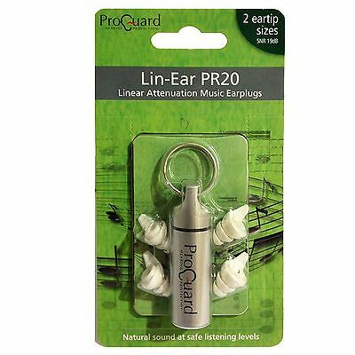 Proguard Lin-Ear PR20 linear Attenuation Music Earplugs - Ear Protection Plugs