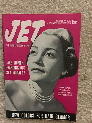 JET MAGAZINE August 27 1953 Mary Beale Model Women changing our sex morals