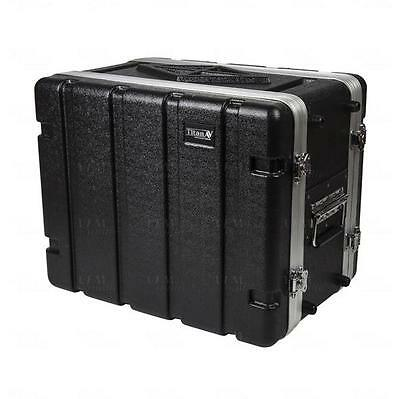 "Titan AV 19"" 8RU ABS Rack Case Half Depth Road Case"