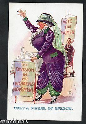 Suffragette Votes For Women Political Comic , Inter Art  No 926 C1910