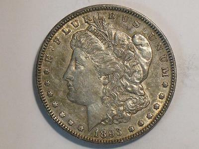 1893 Morgan Dollar - United States $ Coin - 90% Silver
