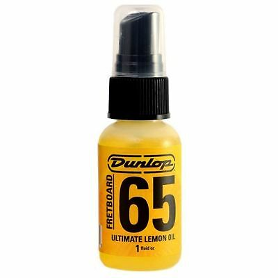 Jim Dunlop Fretboard 65 Ultimate Lemon Oil 1oz Pump Spray Bottle Finger board